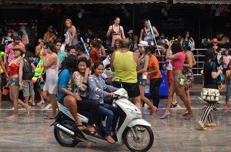 """After a week of water-based warfare, Pattaya brings its annual Songkran celebration to a close this weekend with official """"Wan Lai"""" events in Naklua and Pattaya."""