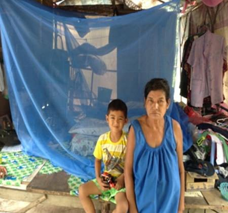 The Rotary Club of Jomtien-Pattaya purchased mosquito nets for some of the families, who now have many happy children getting a good sleep at night.