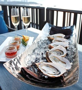 Oyster & Bubble promotion at Horizon restaurant.