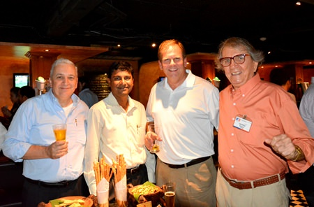 (L to R) David R. Nardone, President & CEO of Hemaraj Land and Development; Ramesh Ramanathan, Managing Director of Visteon (Thailand); Jake Mays, Chief Financial Officer Asia Pacific of Loparex; and George T. Strampp, Managing Partner of AMS.