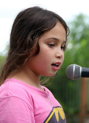 This young lady gave a beautiful rendition of a Cyndy Lauper classic.
