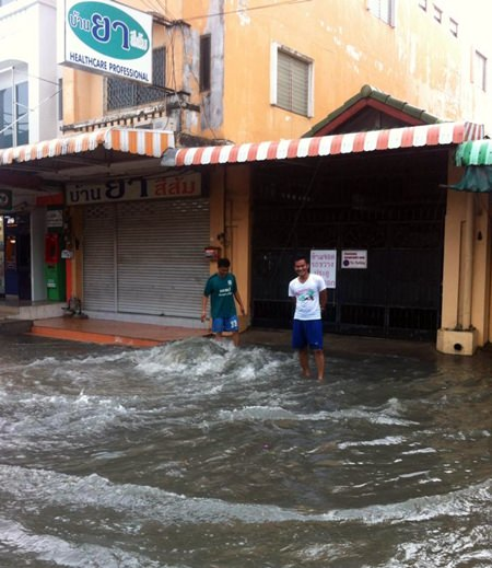 Heavy rains and floods have become synonymous in Pattaya over the years as the city grows and drainage canals become encroached upon and blocked.