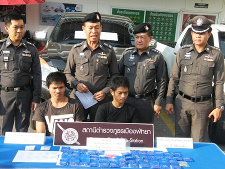 Wannapong Thammachart and Prasertsit Hunsamer have been charged with possession with intent to distribute Class 1 narcotics.