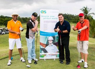 (From left): Bic Gohil, Andrew Fromholtz, Ron Grigaras and Geoff Wilson at the AFG annual charity golf day. (Photo/AFG)