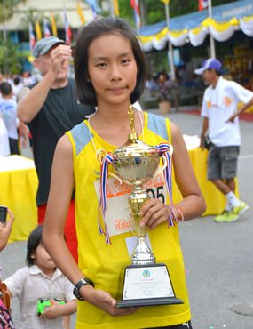 Kanchanaporn Aonputta was the winner of the women's race.
