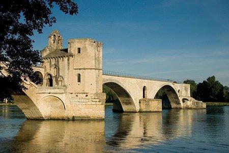 The remains of Pont Saint-Bénézet and the Rhône River. (Photo: Charles Greenhough)