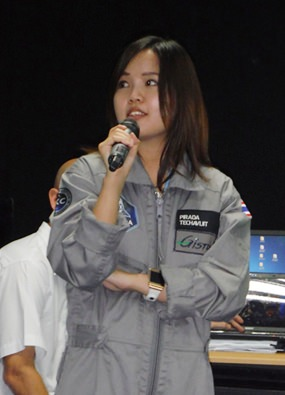 Pirada talks about her future mission into space.