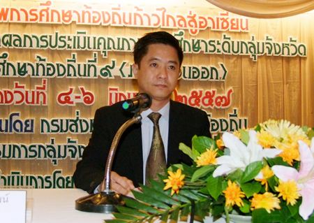 Mayor Decho Khongchayasuksawas welcomes the 9th Local Education Group to Chonburi.