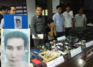 Weerachai Piyawisut (inset) was arrested in Pattaya after allegedly robbing transvestites he met through Facebook.
