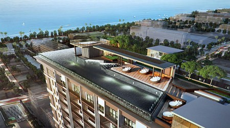 The project is ideally located in the center of the city, close to the major shopping and dining attractions plus the beach.