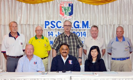 The newly elected Pattaya Sports Club Executive Committee: