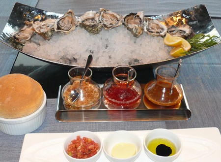 The Oyster and Bubble promotion features Fines de Claire oysters.