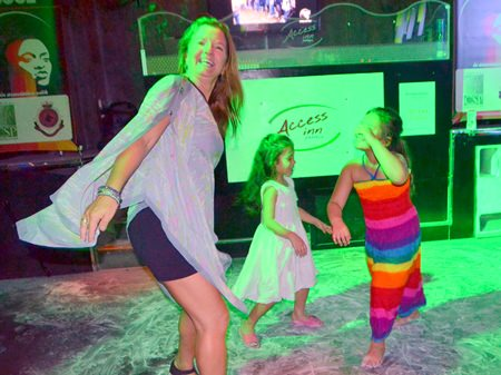 Starting out young –budding soul fans hit the dance floor.