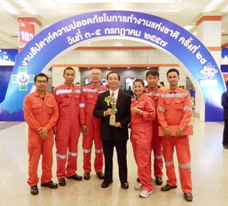 Unithai Shipyard and Engineering has received a 2014 National Safety Award from the Ministry of Labour.