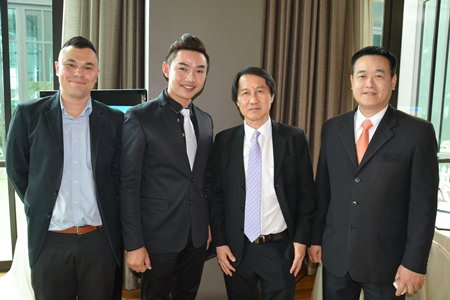 (l-r) Thanagon Poungbubchart, PR & MarCom Manager of the Holiday Inn Pattaya, Prarinya Charoenrat, Director of Rooms Pullman Pattaya Hotel G, Sophon Vongchatchainont, General Manager of Pullman Pattaya Hotel G and Somkit Tonsaiphet, General Manager of Zign Hotel Pattaya.