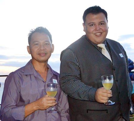 Cherdchai Chantasit (left) with JP Bernet from Ibis Pattaya.