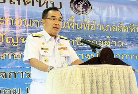 Rear Adm. Tee Upanisakorn, chief of staff for the Sattahip Naval Base.