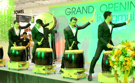 Wild drummers got everyone's blood flowing during the opening ceremony.