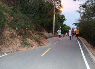 Heavy rains tend to cause landslides along steep sections of Pratamnak Hill.