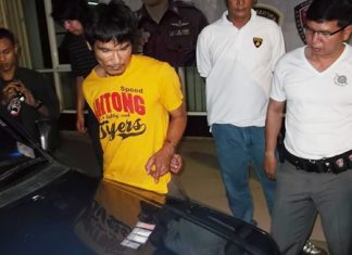 Pattaya police arrested Wirat Phophon for possession of illicit drugs.