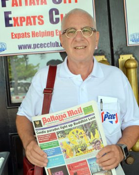 PCEC member Richard Silverberg congratulates Pattaya Mail for its 21st anniversaries and said that Pattaya Mail is a quality media who provides helpful information every week to PCEC members and expatriates of all nationalities who live in Pattaya. He was very impressed and grateful to have known stories happing in town through Pattaya Mail.
