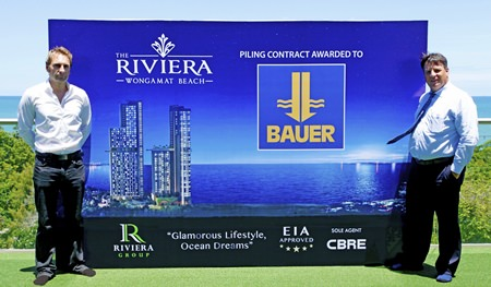 Riviera Group's Winston Gale (left) with Thai Bauer Managing Director Mike Sinkinson.