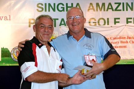 John Emmerson (right) – winner of Division 1.