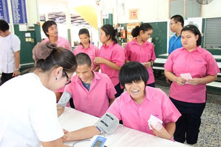 Students at the Redemptorist School for the Blind were given free health checkups on July 29.