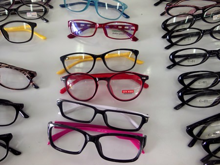 Bright colourful frames are available.