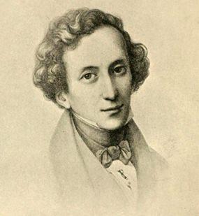 Mendelssohn at 26 (Pencil Drawing by Mücke).