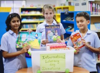 Year 8 students were among many who gave up their old books to help other children.