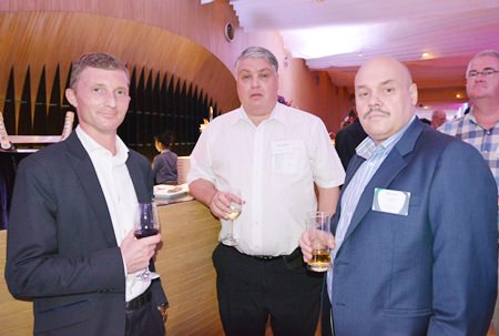 (L to R) Jesper Kjaerskov Pedersen from G4S Secure Solutions (Thailand) Limited, Mike Walls from Oncam Grandeye and Harry Stultiens from Vinarco International.