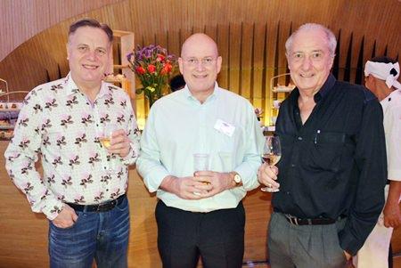 (L to R) Simon Matthews, Chairman of BCCT, Graham Macdonald, President SATCC and Dr. Iain Corness.
