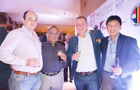 (L to R) Stefan Langhein, Sudhir Khanna, Mark Huisman and Lim Cheng seen having a great time.