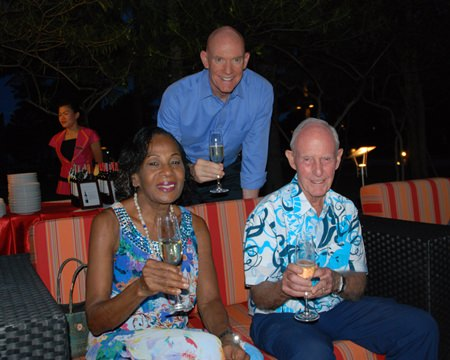 Mark Hudson (back), Janet Smith, and Richard Smith, from the Pattaya City Expats Club.