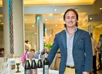 Luca Ardiri, the export area manager for Braida, stands by his wines.