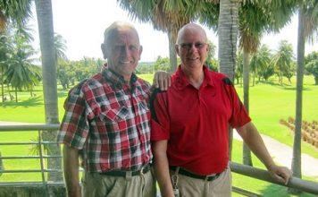 Winners Brian Parish and Ted Morris.