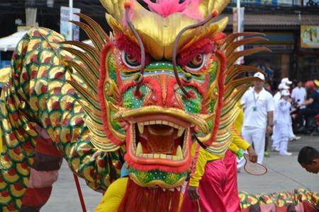 A fierce dragon wants to help ward off evil spirits.