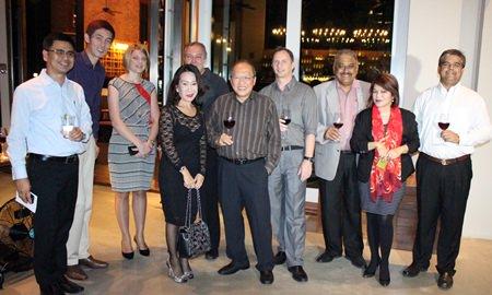 The Gang: Sittidej Rochnavibhata (Cape Dara), Sanpech Supabowornsthian (GM Long Beach Garden Hotel & Spa Pattaya), Kate Gerits (Holiday Inn Pattaya), Jitmanee Siravithayavanich (Way Hotel), Rene Pisters (Thai Garden Resort), Chatchawal Supachayanont (Dusit Thani Pattaya), Danilo Becker (Thai Garden Resort), Peter Malhotra (Pattaya Mail Media Group), Vanjie Lauzon (Dusit Thani Pattaya) & Tony Malhotra (Pattaya Mail Media Group).