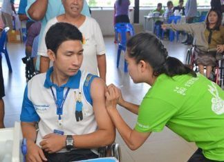 Nurses were able to inoculate more than 2,500 civil servants and their families during an inoculation event at city hall.