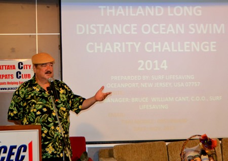 Dr. Penguin explains his charity swimming event upcoming in late December and invites everyone to attend for some fun while raising money for charity.
