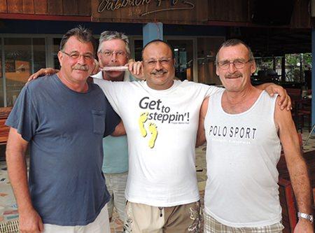 From left: Bob Mattes, Bob St. Aubin, Usman Janjua and Dennis Pelly.