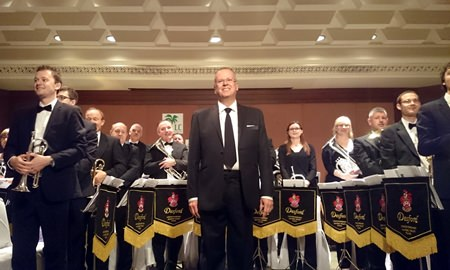 The Desford Colliery Brass Band performed at Siam Bayshore in Pattaya on Oct. 26.