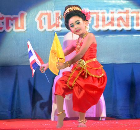 This Nong Noppamas contestant is very patriotic.