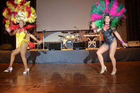 Hot Samba dancers entertain the guests.