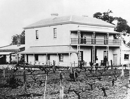 Bankside homestead in 1874.