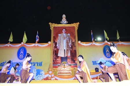 The Eastern Seaboard marked HM the King's 87th birthday with jubilant celebration and a focus on the environment in events ranging from fireworks in Pattaya to planting coral in Sattahip. Shown here, Pattaya students perform a time honored traditional Thai dance paying homage to HM the King.