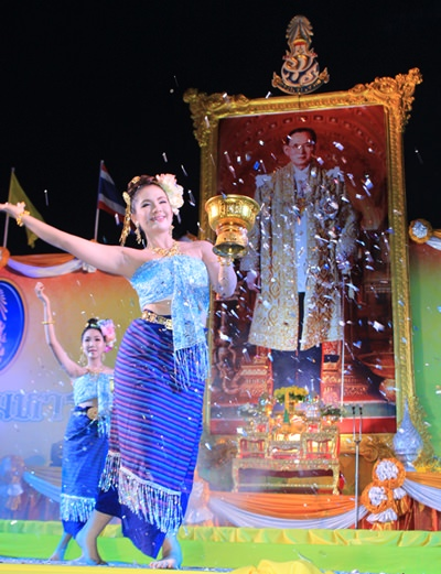 Children from many Pattaya schools performed exquisite dances in honour of our beloved King.