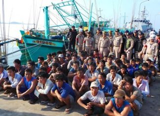 The Royal Thai Navy arrested 54 Vietnamese fishermen and seized seven boats found operating illegally in Sattahip Bay.