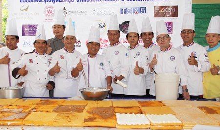 Once again the Chefs' Association of Pattaya produced a wonderful cake.